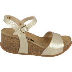 Rzymianki damskie: Sandały w kolorze złotym