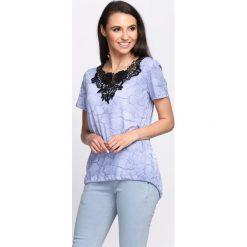 Czarno-Niebieski T-shirt Lady Club. Czarne bluzki damskie Born2be, m. Za 39,99 zł.