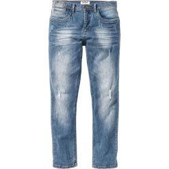 """Dżinsy ze stretchem Slim Fit Straight bonprix niebieski """"used"""". Niebieskie jeansy męskie regular bonprix. Za 109,99 zł."""