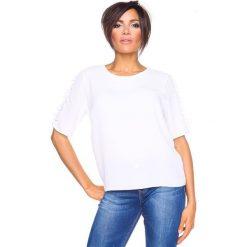 """T-shirty damskie: Koszulka """"Aline"""" w kolorze białym"""