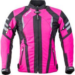 Kurtki damskie: W-TEC Damska kurtka motocyklowa typu softshell Alenalla NF-2410 Kolor czarno-różowy, Rozmiar XL (15204)
