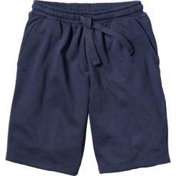 Szorty dresowe bonprix granatowy. Niebieskie spodenki i szorty męskie marki bonprix, w paski, z dresówki. Za 44,99 zł.