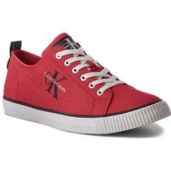 Tenisówki CALVIN KLEIN JEANS - Arnold Denim S1483 Red. Czerwone tenisówki męskie Calvin Klein Jeans, z denimu. W wyprzedaży za 249,00 zł.
