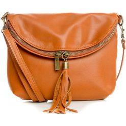 Torebki klasyczne damskie: Skórzana torebka w kolorze brązowym – 24 x 18 x 4 cm