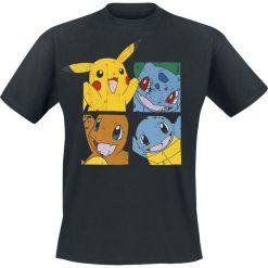 T-shirty męskie z nadrukiem: Pokemon Pikachu And Friends T-Shirt czarny