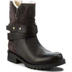 Botki TOMMY HILFIGER - DENIM Corey 4CW FW0FW01460 Steel Grey/Black 901. Czarne buty zimowe damskie marki TOMMY HILFIGER, z materiału, z okrągłym noskiem, na obcasie. W wyprzedaży za 399,00 zł.