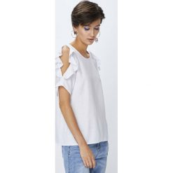 Medicine - Koszula Basic. Szare koszule damskie MEDICINE, l, z materiału, z krótkim rękawem. W wyprzedaży za 39,90 zł.