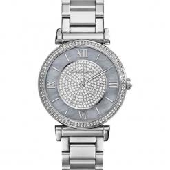 """Zegarek kwarcowy """"Catlin"""" w kolorze srebrnym. Szare, analogowe zegarki damskie Michael Kors, srebrne. W wyprzedaży za 560,95 zł."""