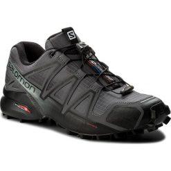 Buty SALOMON - Speedcross 4 392253 27 V0 Dark Cloud/Black/Pearl grey. Szare buty trekkingowe męskie Salomon, z materiału, na sznurówki, do biegania, salomon speedcross. W wyprzedaży za 369,00 zł.