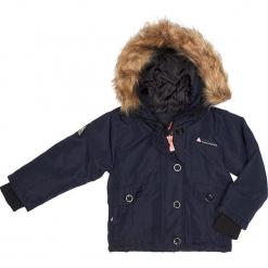 Kurtka zimowa w kolorze granatowym. Niebieskie kurtki dziewczęce zimowe marki Peak Mountain. W wyprzedaży za 172,95 zł.