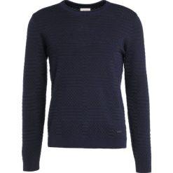 Swetry klasyczne męskie: Armani Collezioni STRUCTURED Sweter dunkelblau
