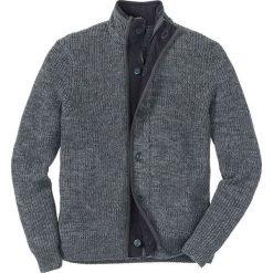 Sweter rozpinany Regular Fit bonprix antracytowo-szary melanż. Szare kardigany męskie marki bonprix, m, melanż. Za 109,99 zł.