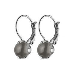 Kolczyki damskie: Kolczyki w kolorze srebrnym z opalem