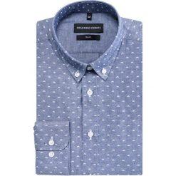 Koszula SIMONE KDWS000370. Białe koszule męskie na spinki marki INESIS, m, z bawełny, z długim rękawem. Za 169,00 zł.
