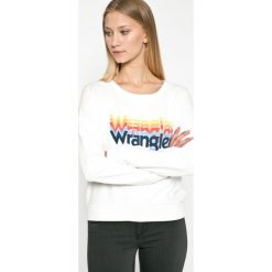 Wrangler - Bluza. Szare bluzy z nadrukiem damskie marki Wrangler, na co dzień, m, casualowe, z okrągłym kołnierzem, mini, proste. W wyprzedaży za 179,90 zł.