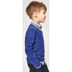 Sweter z dekoltem w serek - Niebieski - 2