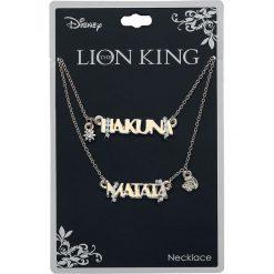 Naszyjniki męskie: The Lion King Hakuna Matata Naszyjnik złoty