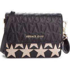 Torebka VERSACE JEANS - E1VSBBH1 70782 M27. Czarne listonoszki damskie Versace Jeans, z jeansu, zdobione. Za 749,00 zł.