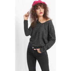 Lekki sweter z kryształkami. Brązowe t-shirty damskie marki Orsay, s, z dzianiny. Za 69,99 zł.
