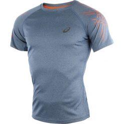T-shirty męskie z nadrukiem: koszulka do biegania męska ASICS SHORT SLEEVE STRIPE TOP / 126236-8151