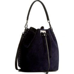 Torebka CREOLE - K10343  Granatowy/Czarny. Niebieskie torebki worki Creole, ze skóry. Za 259,00 zł.