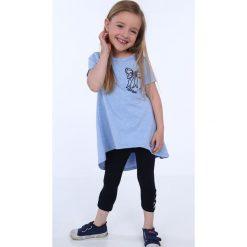 Tunika dziewczęca z kokardą niebieska NDZ8232. Szare sukienki dziewczęce marki Fasardi. Za 39,00 zł.