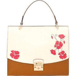 Torebki klasyczne damskie: Skórzana torebka w kolorze koniaku – (S)40 x (W)33 x (G)12 cm