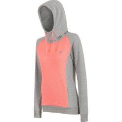 Bluza damska BLD003 - jasny szary melanż - 4F. Szare bluzy sportowe damskie 4f, na lato, l, melanż, z bawełny, z kapturem. Za 129,99 zł.