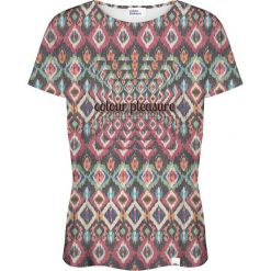 Colour Pleasure Koszulka damska CP-030 263 zielono-fioletowa r. M/L. Fioletowe bluzki damskie Colour pleasure, l. Za 70,35 zł.