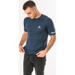 Salomon Koszulka męska Agile SS Tee Dress Blue r. XL (398625). Niebieskie koszulki sportowe męskie Salomon, m. Za 90,77 zł.