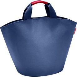 Shopper bag damskie: Shopper bag w kolorze granatowym – 60 x 42 x 13 cm