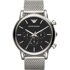 Emporio Armani - Zegarek AR1808. Szare zegarki męskie marki Emporio Armani, l, z nadrukiem, z bawełny, z okrągłym kołnierzem. Za 1299,00 zł.