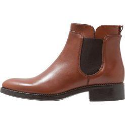 Lamica PANE Ankle boot macchiato whiskey. Brązowe botki damskie na zamek Lamica, z materiału. Za 509,00 zł.