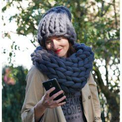 Czapki damskie: zestaw czapka BEANIE +komin wełniany