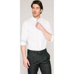 Guess Jeans - Koszula. Szare koszule męskie casual marki Guess Jeans, l, z aplikacjami, z bawełny, z klasycznym kołnierzykiem, z długim rękawem. W wyprzedaży za 199,90 zł.