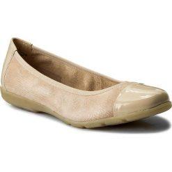 Baleriny CAPRICE - 9-22152-20 Beige Rep Comb 411. Brązowe baleriny damskie zamszowe marki Caprice. W wyprzedaży za 149,00 zł.