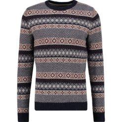 Swetry klasyczne męskie: Selected Homme SHHISLE  Sweter dark navy/papyrus