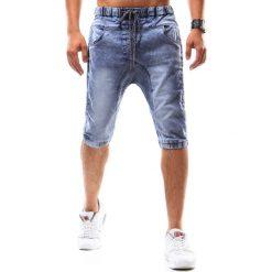 Bermudy męskie: Spodenki jeansowe męskie niebieskie (sx0539)