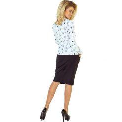 Bluzka z wiązaniem z przodu - BIAŁA w SOWY. Szare bluzki na imprezę marki Top Secret, z nadrukiem. Za 109,99 zł.