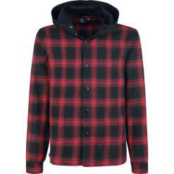 Forplay Hooded Checked Flanel Shirt Koszula czarny/czerwony. Koszule męskie na spinki Forplay, xxl, z kapturem, z długim rękawem. Za 79,90 zł.