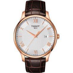 PROMOCJA ZEGAREK TISSOT T - CLASSIC T063.610.36.038.00. Białe zegarki męskie TISSOT, ze stali. W wyprzedaży za 1139,60 zł.