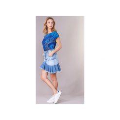 Spódnice krótkie Desigual  CELOUC. Niebieskie minispódniczki Desigual. Za 244,30 zł.