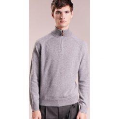 J.CREW ITALIAN HALF ZIP Sweter grey. Szare swetry klasyczne męskie J.CREW, m, z kaszmiru. W wyprzedaży za 829,95 zł.