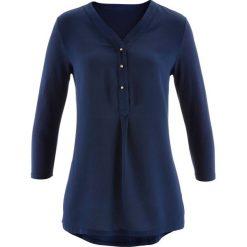 Bluzki damskie: Bluzka shirtowa bonprix ciemnoniebieski