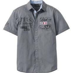 Koszula z krótkim rękawem bonprix dymny szary. Brązowe koszule męskie marki QUECHUA, m, z elastanu, z krótkim rękawem. Za 54,99 zł.
