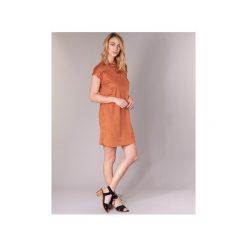 Sukienki krótkie LPB Woman  ARON. Brązowe sukienki mini marki LPB WOMAN, l, z krótkim rękawem. Za 279,20 zł.