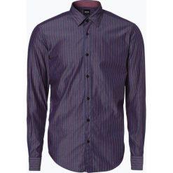 BOSS - Koszula męska – Ronnie_53, niebieski. Niebieskie koszule męskie na spinki Boss, m, w paski, z bawełny. Za 429,95 zł.