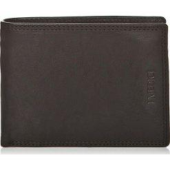 Portfele damskie: Skórzany portfel w kolorze czarnym – 13 x 9,5 x 2 cm
