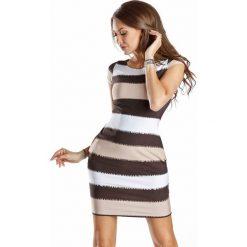 Sukienki hiszpanki: Sukienka w kolorze czarno-beżowym