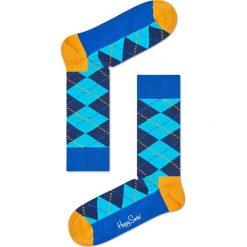 Happy Socks - Skarpety Argyle. Niebieskie skarpetki męskie Happy Socks, z bawełny. Za 39,90 zł.